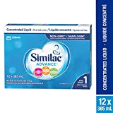 Similac Advance Step 1 Non-GMO Baby Formula, Concentrated Liquid, 12 x 385 mL, 0+ Months