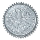 Official Seal of Excellence Embossed Silver Foil Certificate Seals, 2 Inch, Self Adhesive, 102 Count