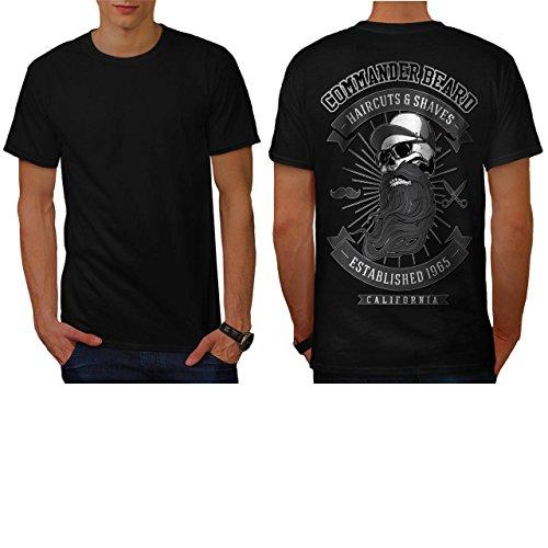 Commander Beard USA Haircuts Men NEW M T-shirt Back   Wellcoda (50s Haircuts)