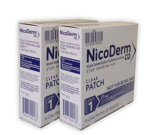 Nicoderm Cq Step - NicoDerm CQ Step 1 Clear Patch, 21mg, 28-Count