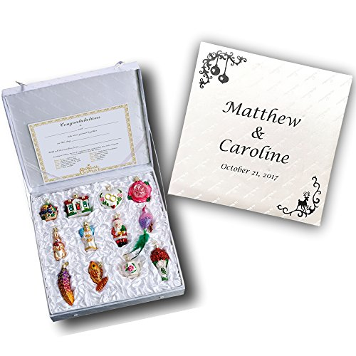 Personalized Old World Christmas Bride's Collection Ornament Box Set