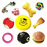 PatAPet Dog Toys Value Pack Gift Set of 10 for Puppy, Small Dogs and Medium Dogs, Training Toy, Squeaky Toy, Plush Toys, Ropes, Flying Disc Frisbee, Dog Toys Chewers For Sale