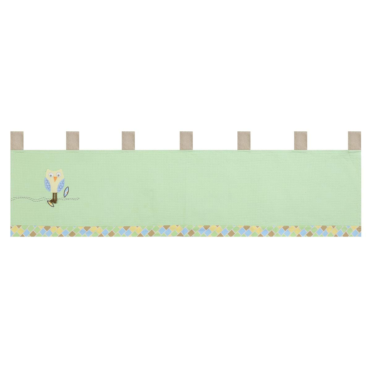 Laugh Giggle and Smile Mod Owls Window Valance for Baby Bedding by LAUGH, GIGGLE, AND SMILE