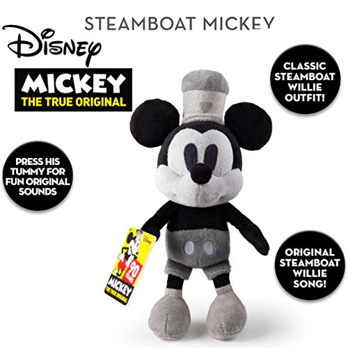 IMC Official Disney 90th Anniversary 30cm Steamboat Willie Mickey Mouse with Original Music]()