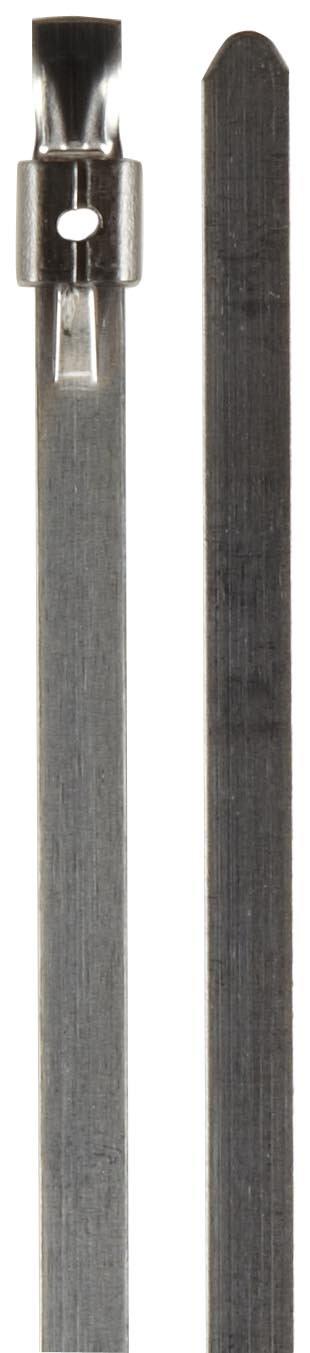 BAND-IT AS4219 Mini Tie-Lok 316 Stainless Steel Cable Tie, 0.177'' Width, 7'' Length, 1'' Maximum Diameter, 100 per Bag