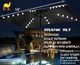 Cheap Strong Camel 10'x6.5′ OUTDOOR SOLAR 26 LED LIGHTS ALUMINIUM PATIO UMBRELLA RECTANGLE BLACK COLOR TILT
