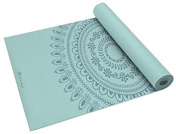 amazon gaiam ガイアム print premium yoga mats 5mm ヨガマット