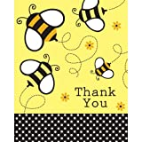 Creative Converting Baby Shower Buzz 8 Count Thank You Cards