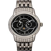 Time100 Men's Owl Eyes Moon Phases Black Dial Watches #W80006G.03A