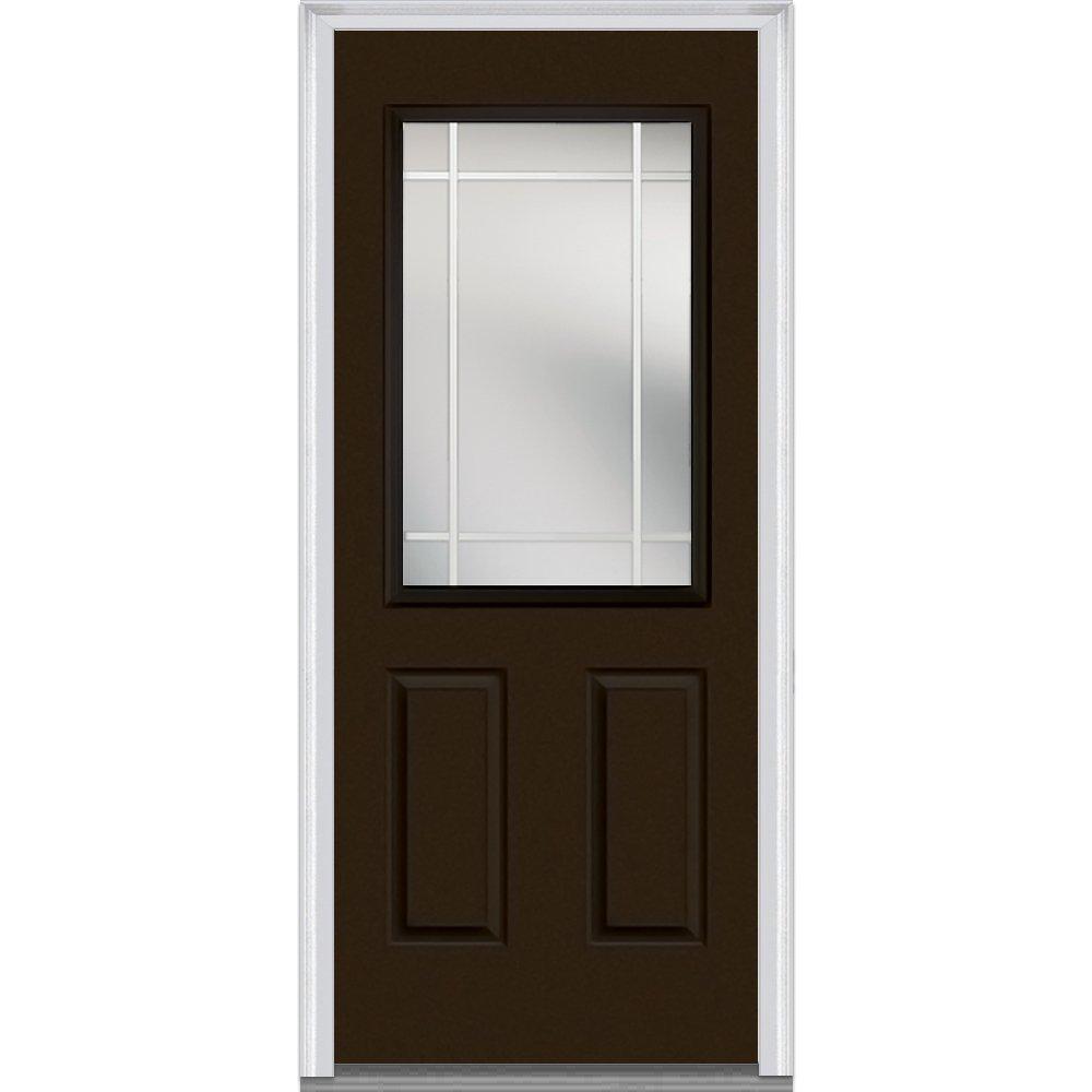 National Door Company Zz07029l Fiberglass Brown Left Hand Inswing