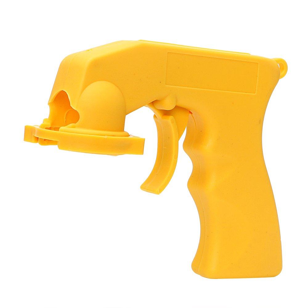 Holdream Pistola de pintura portá til para coche, mango de agarre completo, pistola de spray amarillo