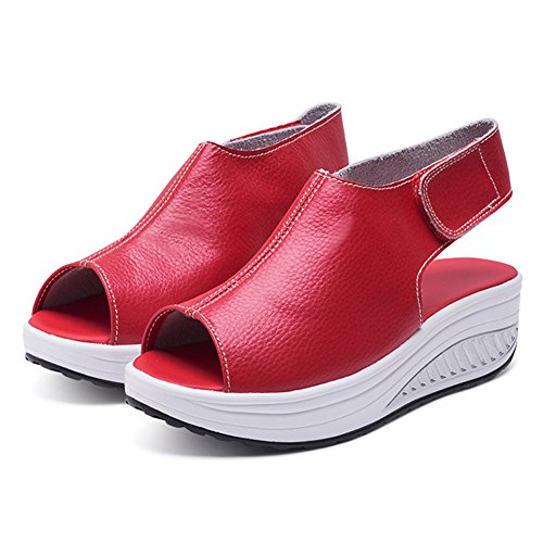 Toe Sandals ANDAY Stick Peep Casual Womens Flatform Sandals Sports Red Magic wPqqAIYxB