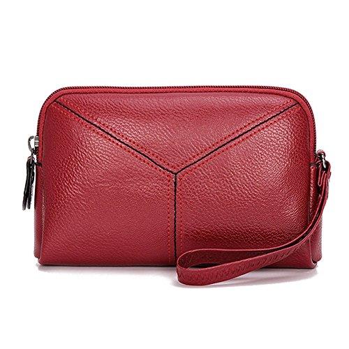 nero Pu Rosso Pelle Coin Multifunzione Amazingdeal365 Borsa Carta Donna Moda Mini Pochette Telefono a6PSwqS
