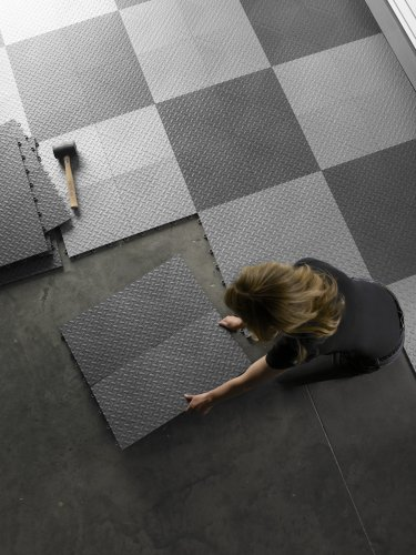 Gladiator GAFT04TTPC Charcoal Floor Tile, 4-Pack
