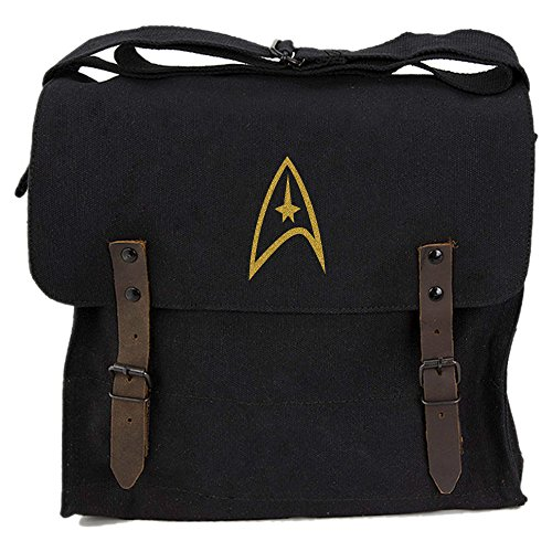 Price comparison product image Star Trek Federation Army Heavyweight Canvas Medic Shoulder Bag in Black & Gold