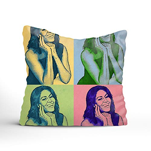 Verna Christopher Michelle Obama Color Decorative Pillowcase for Couch/Sofa/Bed 20x20 Throw ()