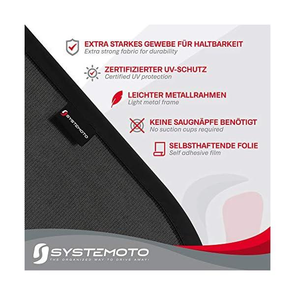 51TZOMg4yeL Systemoto Autositz Organizer + Sonnenschutz Auto Baby mit UV Schutz (2er Set) - Kinder Rückenlehnentasche und…