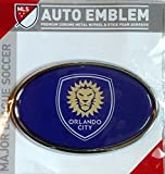 Orlando City SC Lions Raised Metal Domed Oval Color Chrome Auto Emblem Decal MLS Soccer Football Club