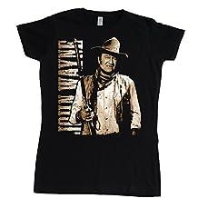 Stooble Womens's John Wayne Cowboy T-Shirt