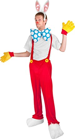 Adult Cartoon Rabbit Costume Adult Standard Size  sc 1 st  Amazon.com : roger the rabbit costume  - Germanpascual.Com