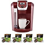 Keurig K475 Coffee Maker (Vintage Red) w/ Breakfast Blend Coffee K-Cups (32 Pack)