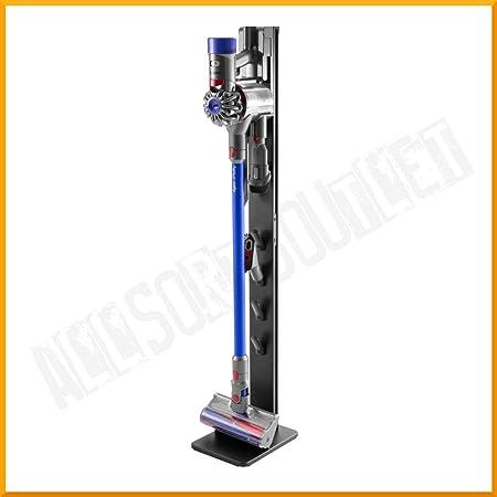 Allsortsoutlet - Soporte de Almacenamiento para aspiradora Dyson inalámbrico V6 V7 V8 V10 V11 y Accesorios, Estante Organizador de Metal Estable, Negro Cepillado: Amazon.es: Hogar