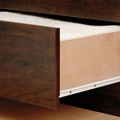 Prepac EBQ-6200-3BV Coal Harbor Mate's Platform Storage Bed with 6-Drawers, Espresso, Queen