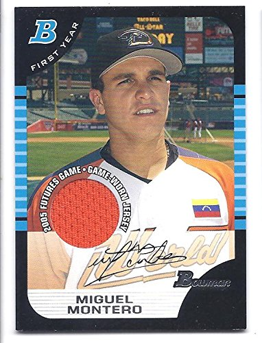MIGUEL MONTERO 2005 Bowman Draft Picks Prospects #BDP137 GAME-WORN JERSEY Rookie Card RC Chicago Cubs Baseball