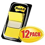 MMM680YW12 - Post-it Flags Value Pack, Yellow, 1 in Wide, 50/Dispenser, 12 Dispensers/Pack