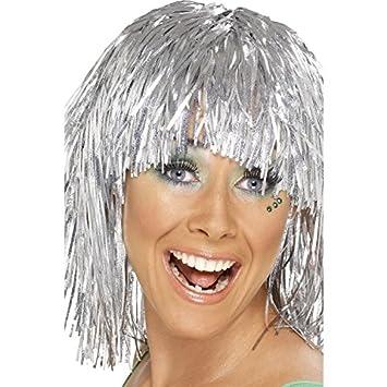 Ciber peluca de lumalina, plateada