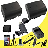 Two Halcyon 2400 mAH Lithium Ion Replacement BP-718 Battery and Charger Kit + Memory Card Wallet + SDHC Card USB Reader + Deluxe Starter Kit for Canon Vixia HF M500, HF M50, HF M52, HF R40, HF R42, HF R400, HF R30, HF R300, HF R32 Canon Vixia Camcorders a