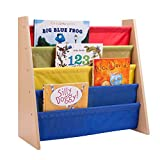 """Honey-Can-Do SHF-05077 Itsy Bitsy Book Rack, Primary Colors, 24.4""""x 11""""x 23.6"""""""