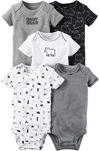 18e4f727e5c Galleon - Carter s Baby Boys  5-Pack Baby Bears Bodysuits 6 Months