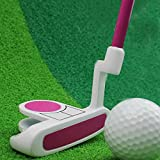 Crestgolf Kids Golf Club Junior Putter Golf Putter,Blue and Pink for Your Choice. (pink, 29 inch)