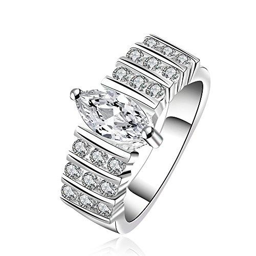 Hot Fashion Jewelry 925 Silver Austrian Crystal Beautiful Finger Ring(O)