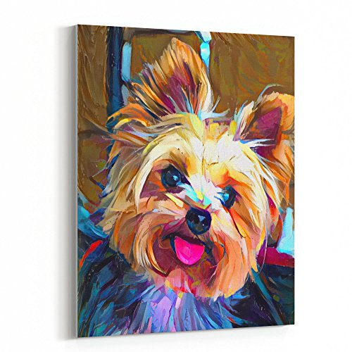 Pictures Yorkie (Westlake Art Canvas Print Wall Art - Dogs Yorkie - Canvas Stretched Gallery Wrap - Modern Abstract Artwork Home Decor - Ready to Hang - 16x20in (37x fe0 b30))