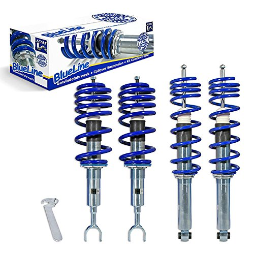 JOM Euro Height Adjustable Coilover Suspension Lowering Kit For Audi A4 B5 8D FWD - Adjustable 15-90mm / 0.6