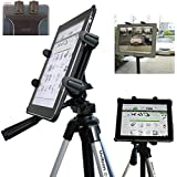 ChargerCity Vibration Free 360° Adjust Tripod Mount 1/4-20 Adapter, HDX-Lock Holder for Apple iPad Pro iPad Air Mini Galaxy Tab Surface 7-12-Inch Tablets (Perfect for PERISCOPE YOUTUBE Live Streaming)