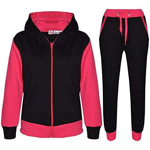 (A2Z 4 Kids® Kids Tracksuit Girls Boys Fleece Hooded Hoodie Bottom Jogging Suit Jogger 7-13Yr)