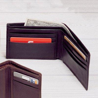 Black Cowhide Nappa Supple Leather Slim Billfold Wallet Winn Slim Wallet
