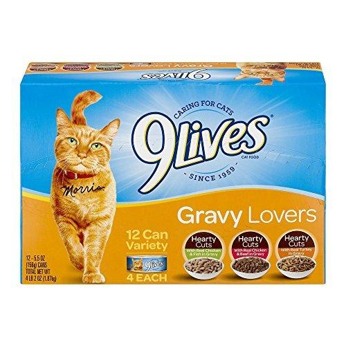 9 Lives Variety Gravy Favorites - Wet Cat Food (Gravy Favorites Variety Pack, 3 Pack of 12)