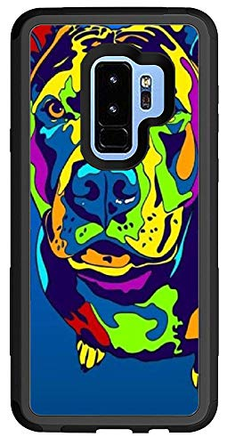 Custom Samsung Galaxy S9 Plus Cases - Blue American Bulldog Hard Plastic Phone Cell Case for Samsung Galaxy S9 Plus