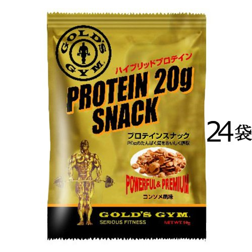GOLD'S GYM プロテインスナック (コンソメ風味) 50g/袋 F5310 (24) B01JO49LLQ   24