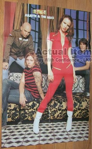 Poster Fear Factory - JULIETTE LEWIS & THE LICKS Giant 8 Page Poster FEAR FACTORY Burton C. Bell 2002 C