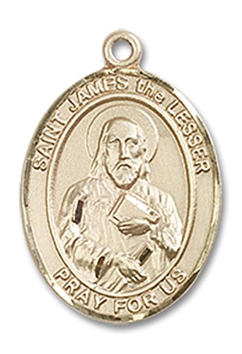 14 Karat Gold Saint James the Lesser Medal Charm Pendant, 3/4 ()
