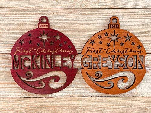 Amazon.com: Personalized First Christmas 2019 Ornament (or ...