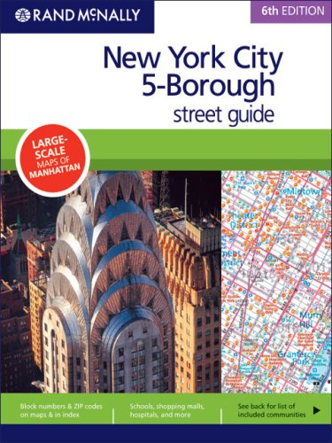 Rand McNally 6th Edition New York City 5-Borough street guide