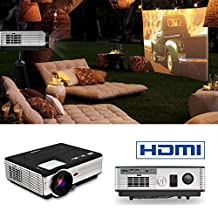 "Portable LED Projector 3500 Lumens 200"" LCD Display- for Movie Video Games Home Theater Indoor Outdoor- Support Blu-ray DVD Player, Laptops, Tablets, Smartphones"