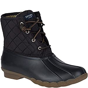 Sperry Top-Sider Women's Saltwater Boot, Black Quilted, 7.5 M US