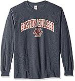 Elite Fan Shop NCAA Men's Boston College Eagles Long Sleeve Shirt Dark Heather Arch Boston College Eagles Dark Heather XX Large